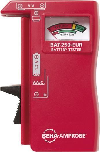Beha Amprobe BAT-250-EUR Batterietester Analog Rundzellen, 9 V Blockbatterien