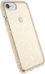 SPECK Presidio Clear Cover für iPhone 7/8, Clear/Gold Glitter
