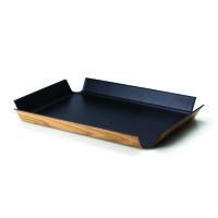 Continenta Tablett rutschfest 54,5x40cm schwarz metallic (2942)
