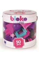 BLOKO BAUSTEINE IN BOX 50-TLG.PINK503532