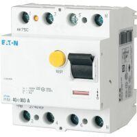 Eaton Fehlerstromschutzschalter 4p 63A 30mA Typ A