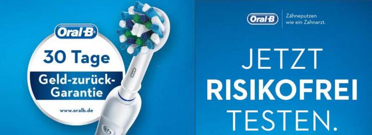 Risikofrei testen mit Oral-B Geld-zurück-Garantie