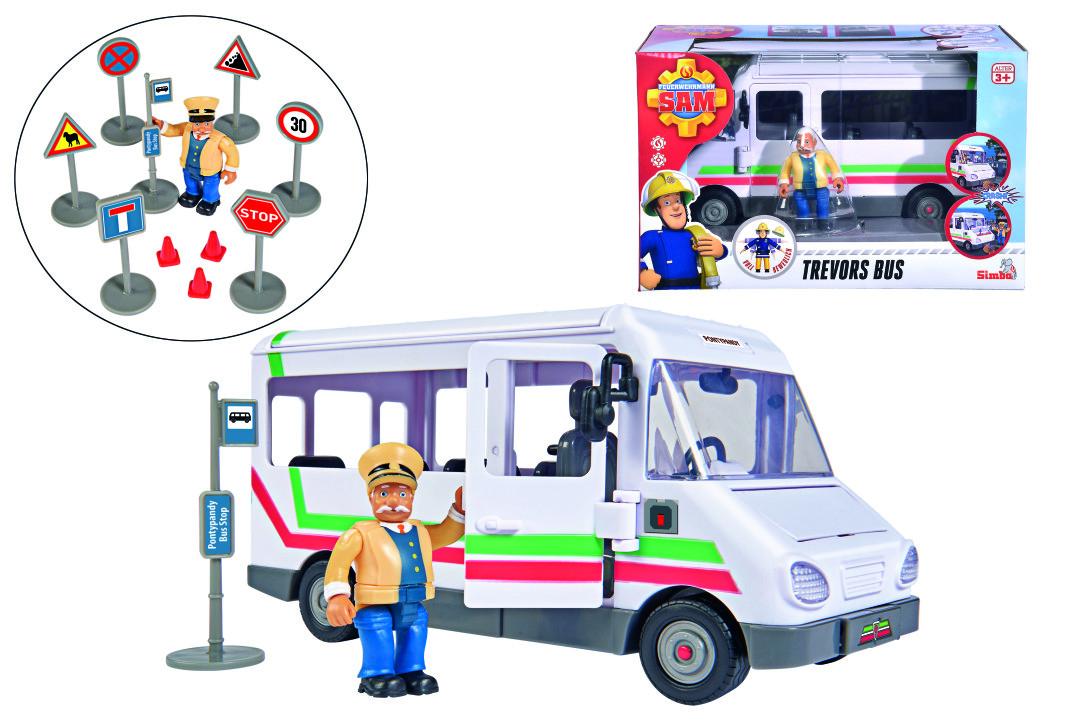 Simba, Trevors Bus mit Figur, Feuerwehrmann Sam 109251073