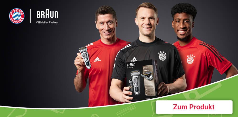 FCB empfhielt Braun Rasierapparate