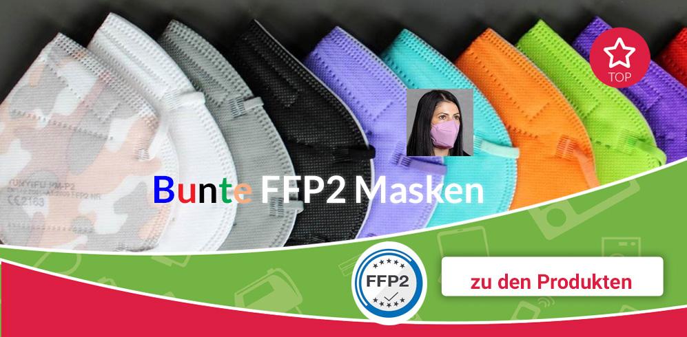 Bunte FFP2 Masken mit CE bei Di-Life.at kaufen