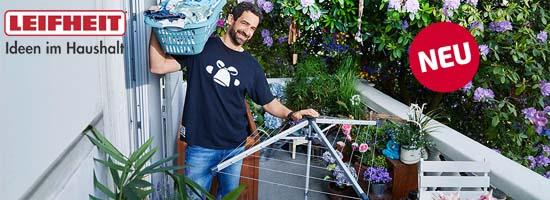 Der neue Leifheit LinoPop Up 140 Wäscheschirm lässt keine Wünsche offen