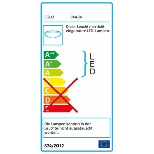 EGLO LED-Wandleuchte /DL/1 CHROM/KLAR-SAT.'CISTERNO' (94484)
