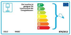 EGLO Tischleuchte /1 E14 KLAR/WEISS 'RINEIRO' (94682)