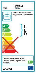 Eglo Hängeleuchte LASANA 2 2x14W LED L-1200 chrom/weiß