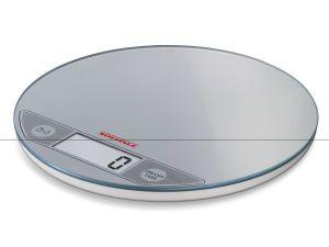 Soehnle Flip Slim Design Elektronische Küchenwaage silber (66161)